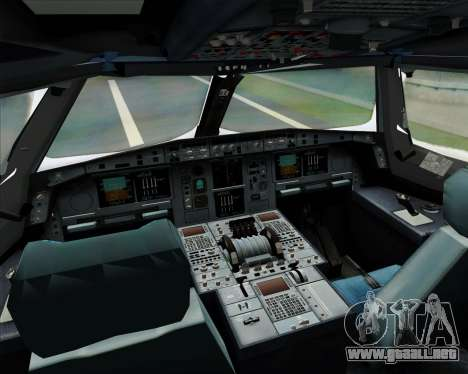 Airbus A380-841 Singapore Airlines para la vista superior GTA San Andreas
