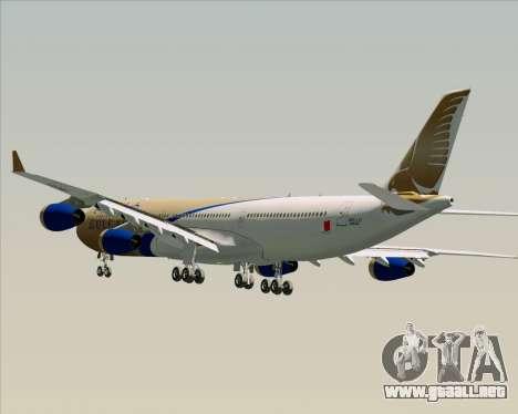 Airbus A340-313 Gulf Air para las ruedas de GTA San Andreas