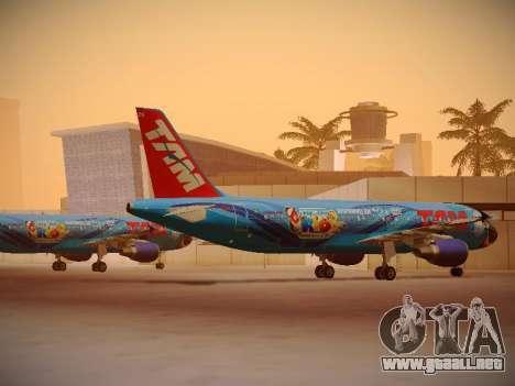 Airbus A320-214 TAM Airlines RIO para la visión correcta GTA San Andreas