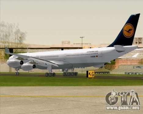 Airbus A340-313 Lufthansa para la visión correcta GTA San Andreas