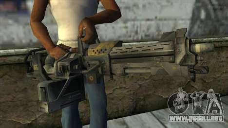 M247 Machine Gun Jorge Of Halo Reach para GTA San Andreas tercera pantalla