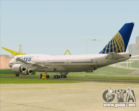 Boeing 747-8 Intercontinental United Airlines para la visión correcta GTA San Andreas