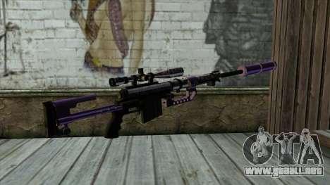 PurpleX Sniper Rifle para GTA San Andreas segunda pantalla