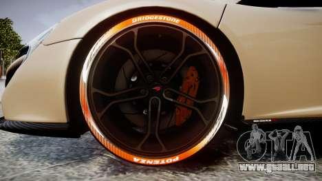 McLaren 650S Spider 2014 [EPM] Bridgestone v1 para GTA 4 vista hacia atrás