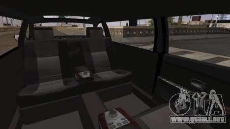 BMW E66 7-Series Limousine para GTA San Andreas vista posterior izquierda