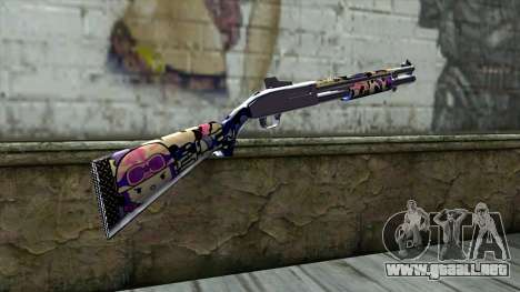 Graffiti Shotgun v3 para GTA San Andreas segunda pantalla