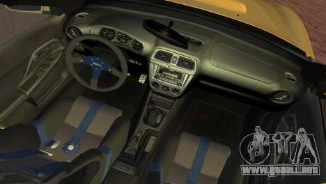 Subaru Impreza WRX 2002 Type 1 para GTA Vice City vista posterior