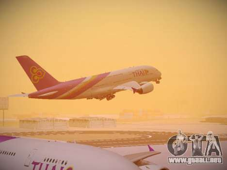 Airbus A380-800 Thai Airways International para GTA San Andreas interior