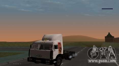 KamAZ-54115 para visión interna GTA San Andreas