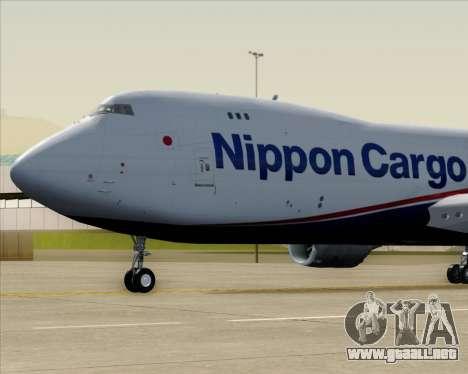 Boeing 747-8 Cargo Nippon Cargo Airlines para visión interna GTA San Andreas