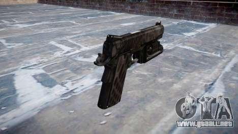 Pistola De Kimber 1911 Kryptek Tifón para GTA 4 segundos de pantalla