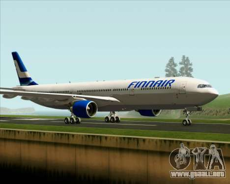 Airbus A330-300 Finnair (Old Livery) para GTA San Andreas left