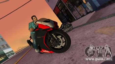 Aprilia RSV4 2009 Original para GTA Vice City vista posterior