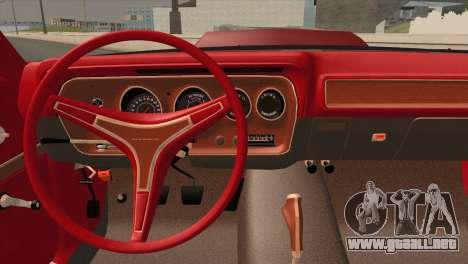 Plymouth GTX Tuned 1972 v2.3 para GTA San Andreas vista hacia atrás