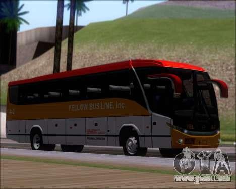 Marcopolo Paradiso G7 1050 Yellow Bus Line A-2 para GTA San Andreas left