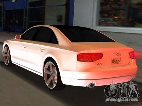 Audi A8 2010 W12 Rim3 para GTA Vice City left
