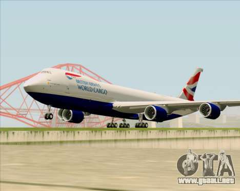 Boeing 747-8 Cargo British Airways World Cargo para GTA San Andreas left