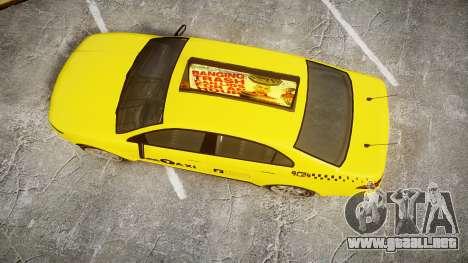 GTA V Vapid Taurus Taxi LCC para GTA 4 visión correcta