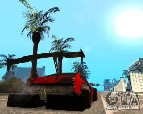 Slivia Red Planet para GTA San Andreas vista posterior izquierda