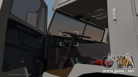 KamAZ-54115 para GTA San Andreas vista posterior izquierda