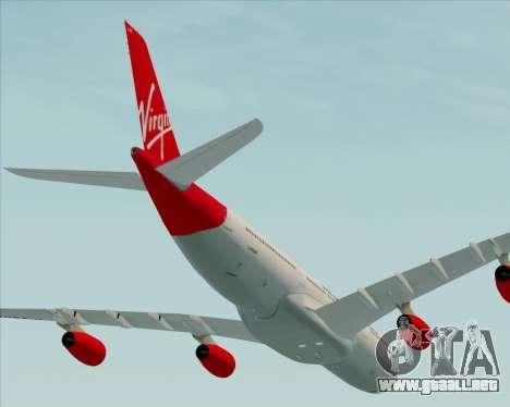 Airbus A340-313 Virgin Atlantic Airways para vista lateral GTA San Andreas