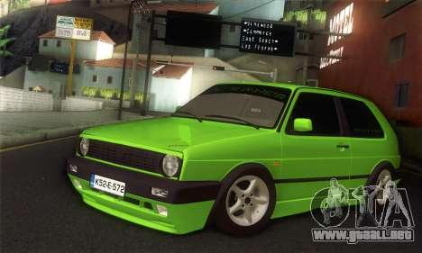 Volkswagen Golf Mk2 Zelengija para GTA San Andreas