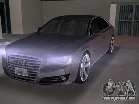 Audi A8 2010 W12 Rim3 para GTA Vice City vista lateral izquierdo