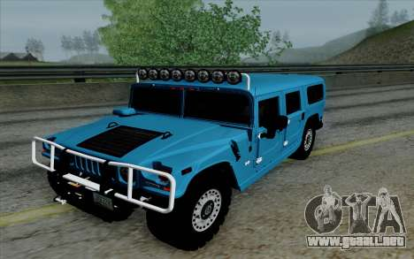 Hummer H1 Alpha 2006 Road version para GTA San Andreas vista hacia atrás
