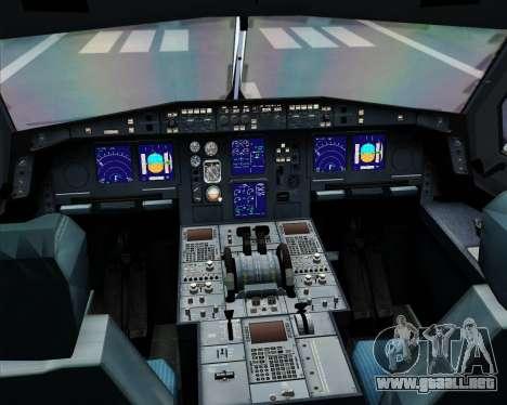 Airbus A330-300 Dragonair (20th Year Livery) para GTA San Andreas interior