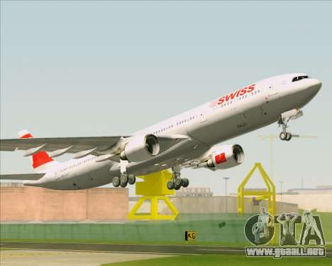 Airbus A330-300 Swiss International Air Lines para vista inferior GTA San Andreas