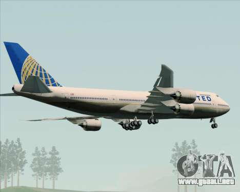 Boeing 747-8 Intercontinental United Airlines para la vista superior GTA San Andreas