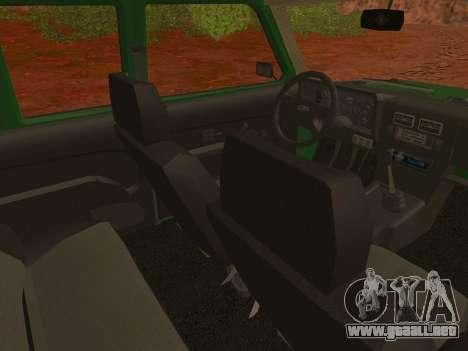 VAZ-2129 Niva 4x4 para la visión correcta GTA San Andreas