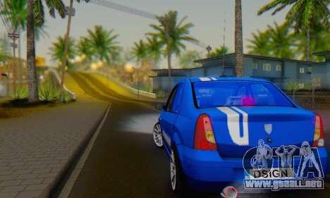 Dacia Logan Tuning Rally (B 48 CUP) para la visión correcta GTA San Andreas