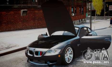BMW Z4M para GTA 4 Vista posterior izquierda