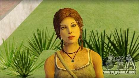 Tomb Raider Skin 12 2013 para GTA San Andreas tercera pantalla