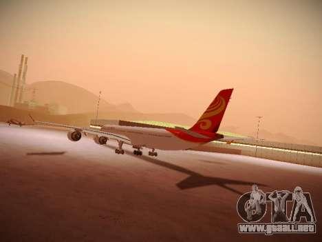 Airbus A340-600 Hainan Airlines para visión interna GTA San Andreas