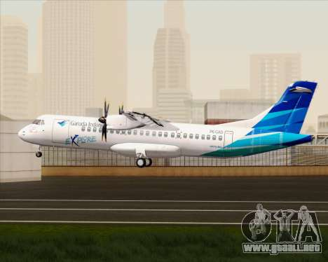 ATR 72-500 Garuda Indonesia Explore para la visión correcta GTA San Andreas