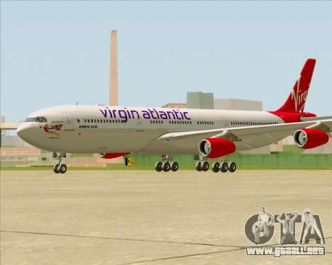 Airbus A340-313 Virgin Atlantic Airways para la visión correcta GTA San Andreas