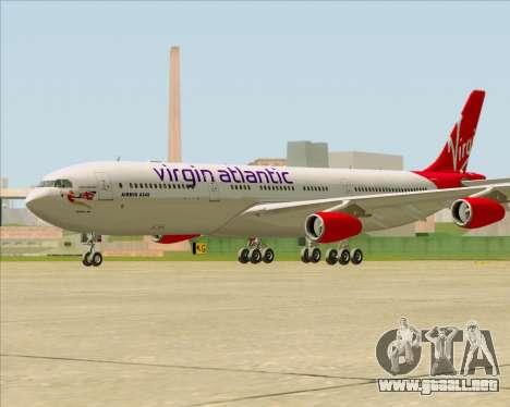 Airbus A340-313 Virgin Atlantic Airways para la visión correcta GTA San Andreas