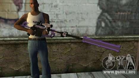 PurpleX Sniper Rifle para GTA San Andreas tercera pantalla