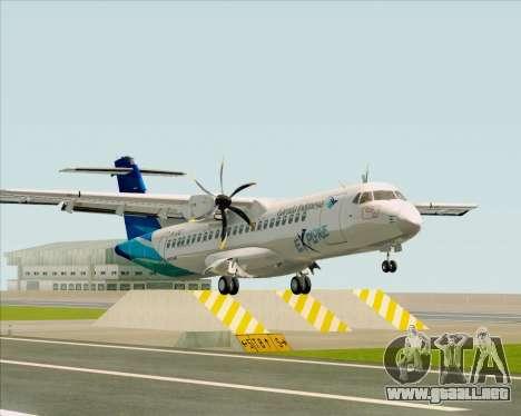 ATR 72-500 Garuda Indonesia Explore para GTA San Andreas left