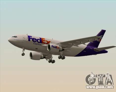 Airbus A310-300 Federal Express para las ruedas de GTA San Andreas