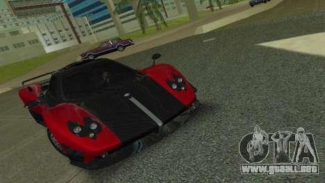 Pagani Zonda Cinque para GTA Vice City vista lateral izquierdo