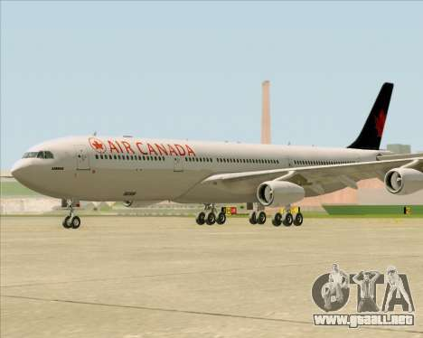 Airbus A340-313 Air Canada para GTA San Andreas left