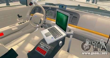 Ford Crown Victoria LCPD [ELS] No Pushbar para GTA 4 Vista posterior izquierda