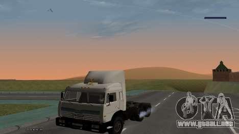 KamAZ-54115 para GTA San Andreas vista hacia atrás