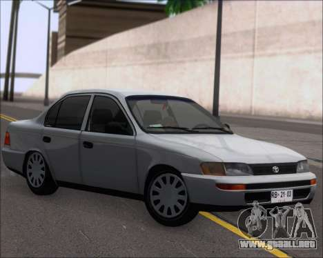 Toyota Corolla 1.6 para GTA San Andreas left
