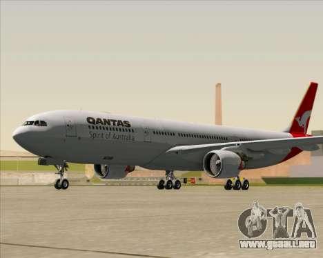 Airbus A330-300 Qantas para GTA San Andreas left