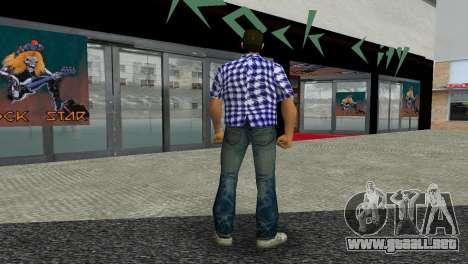 Kockas polo - sotetkek T-Shirt para GTA Vice City tercera pantalla