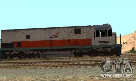 GE U18C CC 201 Indonesian Locomotive para GTA San Andreas left